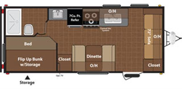 New 2015 Keystone Hideout 19FLB Travel Trailer For Sale
